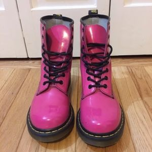 Dr. Martens Hot Pink Boots Size 8